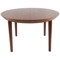 Round Midcentury Dining Table in Teak by Ole Hald for Gudme Møbelfabrik