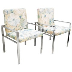 Pair of Rare Aluminum Armchairs by Harvey Probber