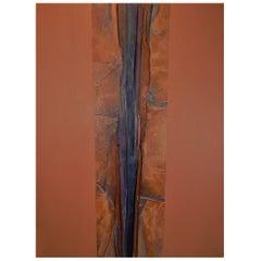 Vera Simons Abstract Mixed Media Painting Canvas on Canvas ca 1980