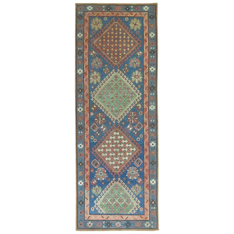Antique Kazak Runner 1