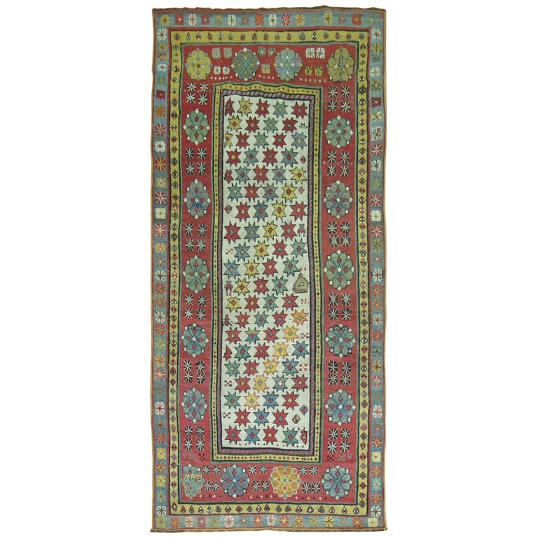 Antique Caucasian Talish Runner For Sale