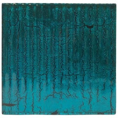 Murano Textured Glass Tiles in Blue, Italy, 2017