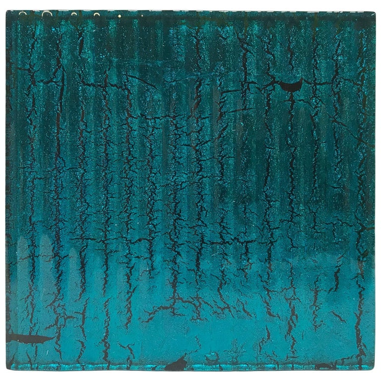 500 Murano Textured Glass Tiles in Blue, Italy, 2017 1