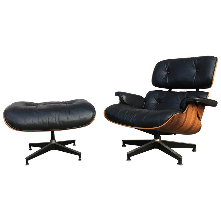 Vintage herman miller eames lounge and ottoman for sale at 1stdibs - Vintage herman miller ...