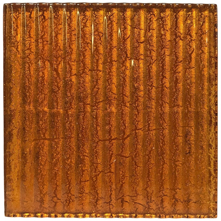 500 Murano Textured Glass Tiles in Orange, Italy, 2017 1