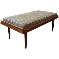 California Modern Walnut Bench by Gerald McCabbe