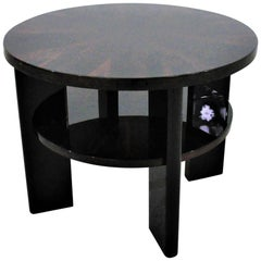 1930 French Side Table with Macassar Top