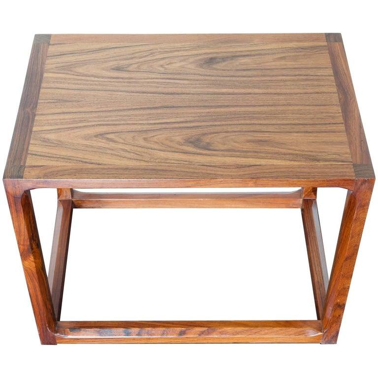Mid Century Danish Modern Small Scale Drawer Coffee Table: 1960s Mid-Century Modern Aksel Kjersgaard Danish Rosewood