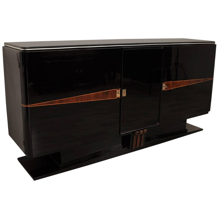 Floating Art Deco Buffet with Fine Wood Details
