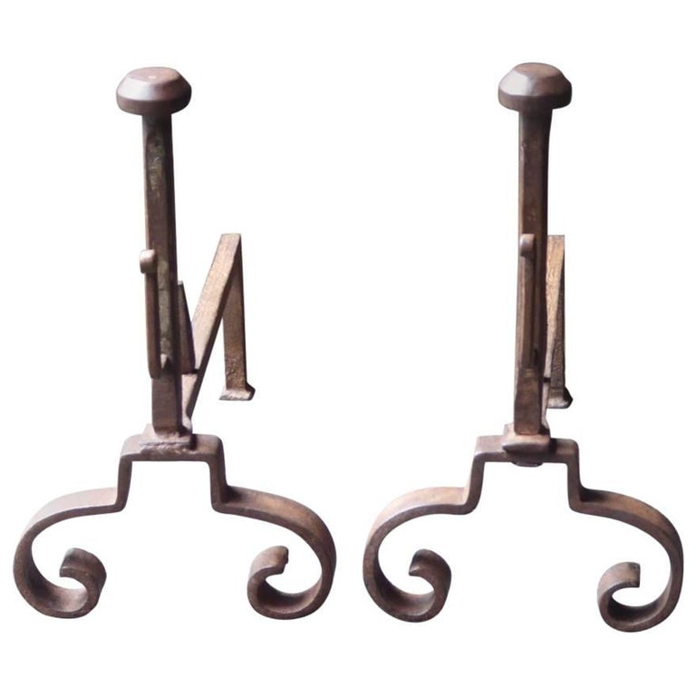 19th Century French Firedogs or Andirons