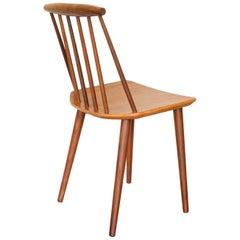 Danish Walnut Folke Palsson for FDB Mobler J77 Stick-Back Dining Chair