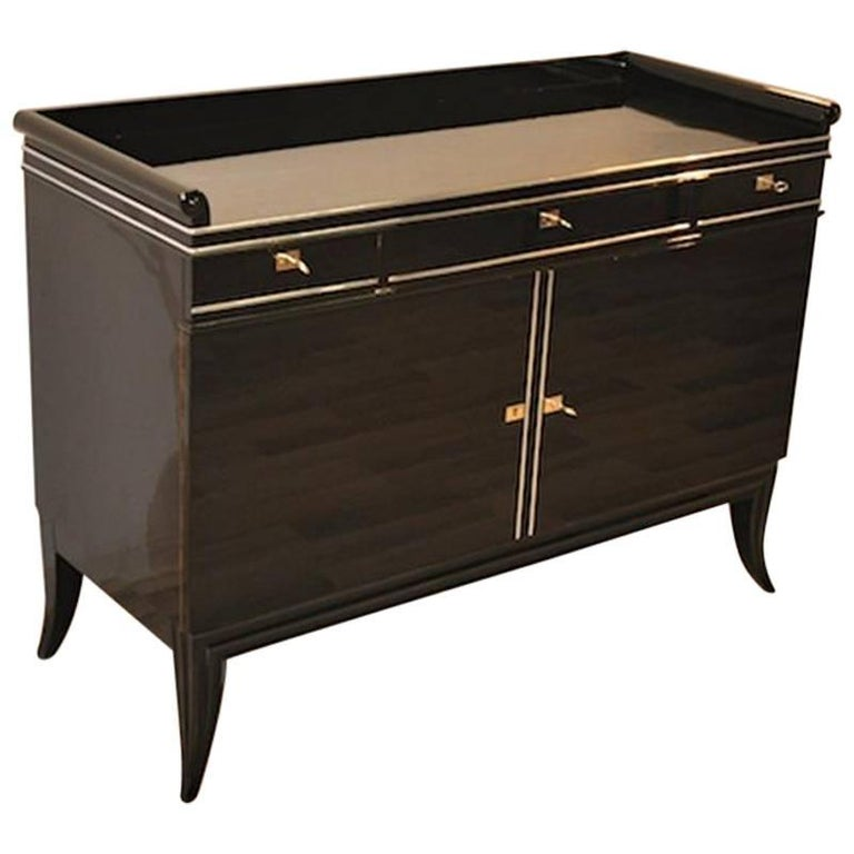 filigree art deco commode or sideboard for sale at 1stdibs. Black Bedroom Furniture Sets. Home Design Ideas