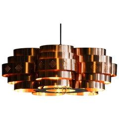 1960s, Copper Pendant by Verner Schou for Coronell Elektro