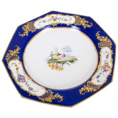 19th Century Sevres Porcelain Cobalt Blue Porcelain Plate