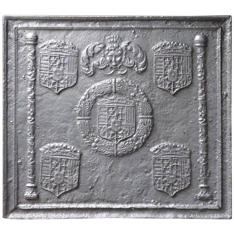 16th-17th Century 'Arms of Lorraine' Fireback