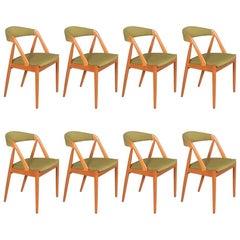 Danish Modern Mid-Century Teak Dining Chairs by Kai Kristiansen Model 31