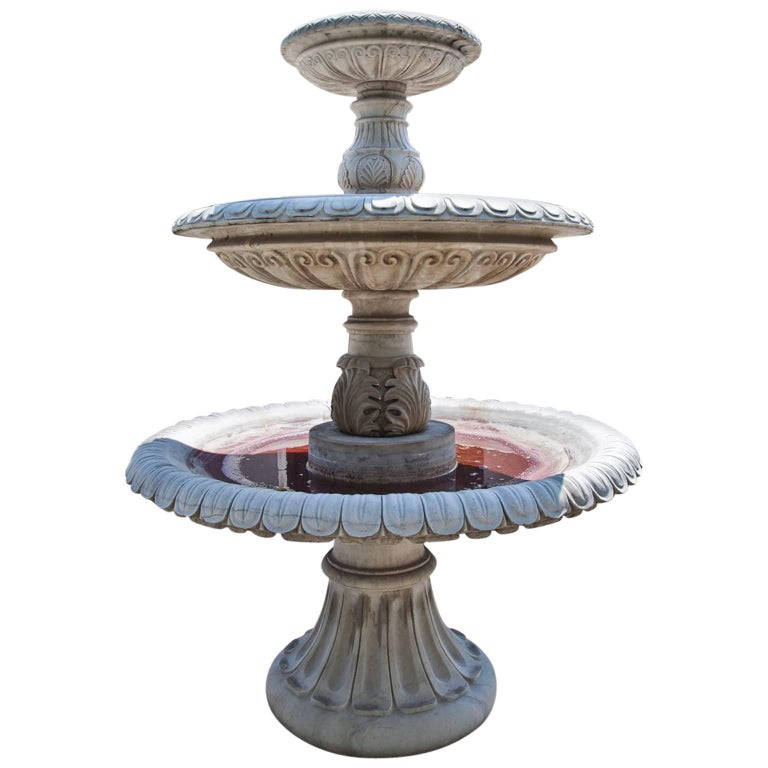 Three-Tiered Neoclassical-Style Fountain