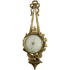 Louis XVI Style Gilt Bronze Cartel Barometer by Planchon, Paris, circa 1880