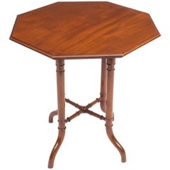 19th Century Victorian Mahogany Octagonal Occasional Table
