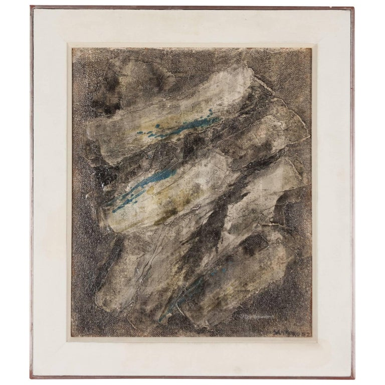 Abstract Composition, Oil on Canvas, British, 1952 1