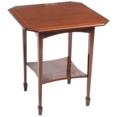Early 20th Century Inlaid Mahogany Edwardian Occasional Table