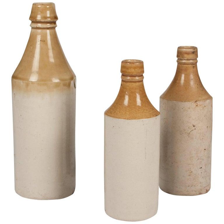 Set of Three Stoneware Bottles, French, 1930s 1
