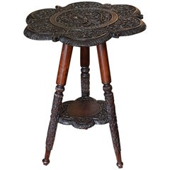 Late 19th Century Small Anglo-Indian Padouk Side Table