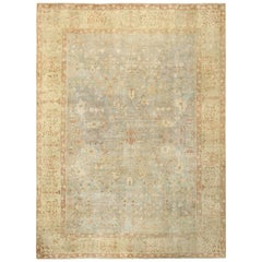 Gray Background Antique Khorassan Persian Rug