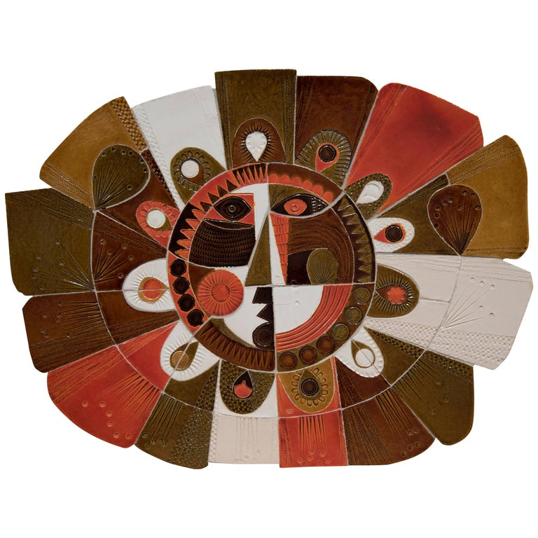 Soleil Ceramic Wall Decoration by Roger Capron