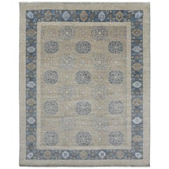 Transitional Rug with Khotan Design and Modern Style