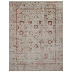 New Contemporary Oushak Area Rug with Romantic French Cottage Toile Style