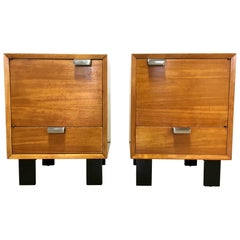 Pair of George Nelson Primavera Bedside Cabinets