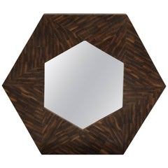 MODERNIST ROSEWOOD Wall Mirror