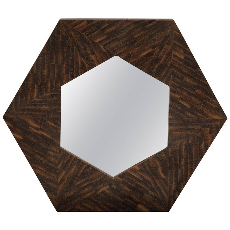 Rosewood Modernist Wall Mirror