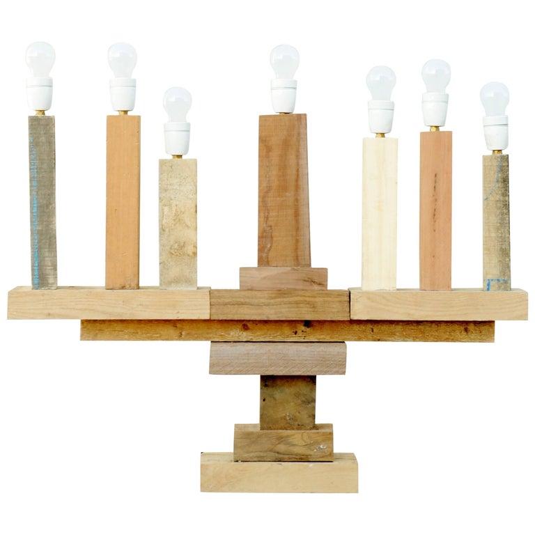 Wooden Candelabra by Pepe Heykoop