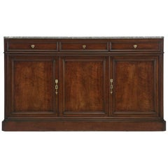 Antique French Buffet or Sideboard with Marble Top, circa 1800s
