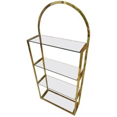 Mid-20th Century French Brass Shelving Unit