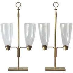 Pair of Tommi Parzinger Hurricane Lamps