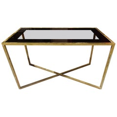 Mid-20th Century Brass Console Table