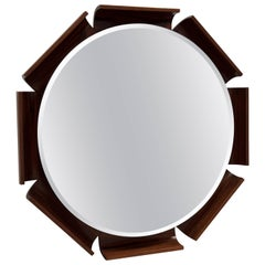 Rosewood Octagon Mirror