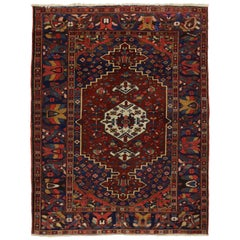 Antique Bakhtiari Persian Rug with Traditional Modern Style