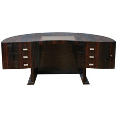 Curved Art Deco French Office Desk