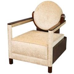 Art Deco Continental Armchair in Walnut
