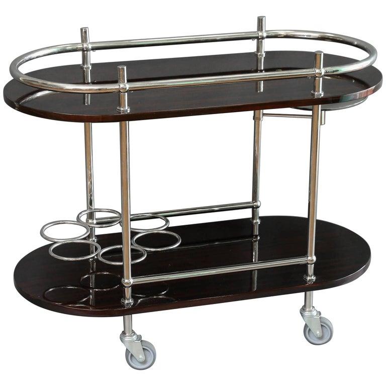 Art Deco Bar Or Serving Cart At 1stdibs