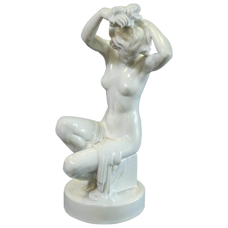 Herend Nude Sitting Female Figure 1