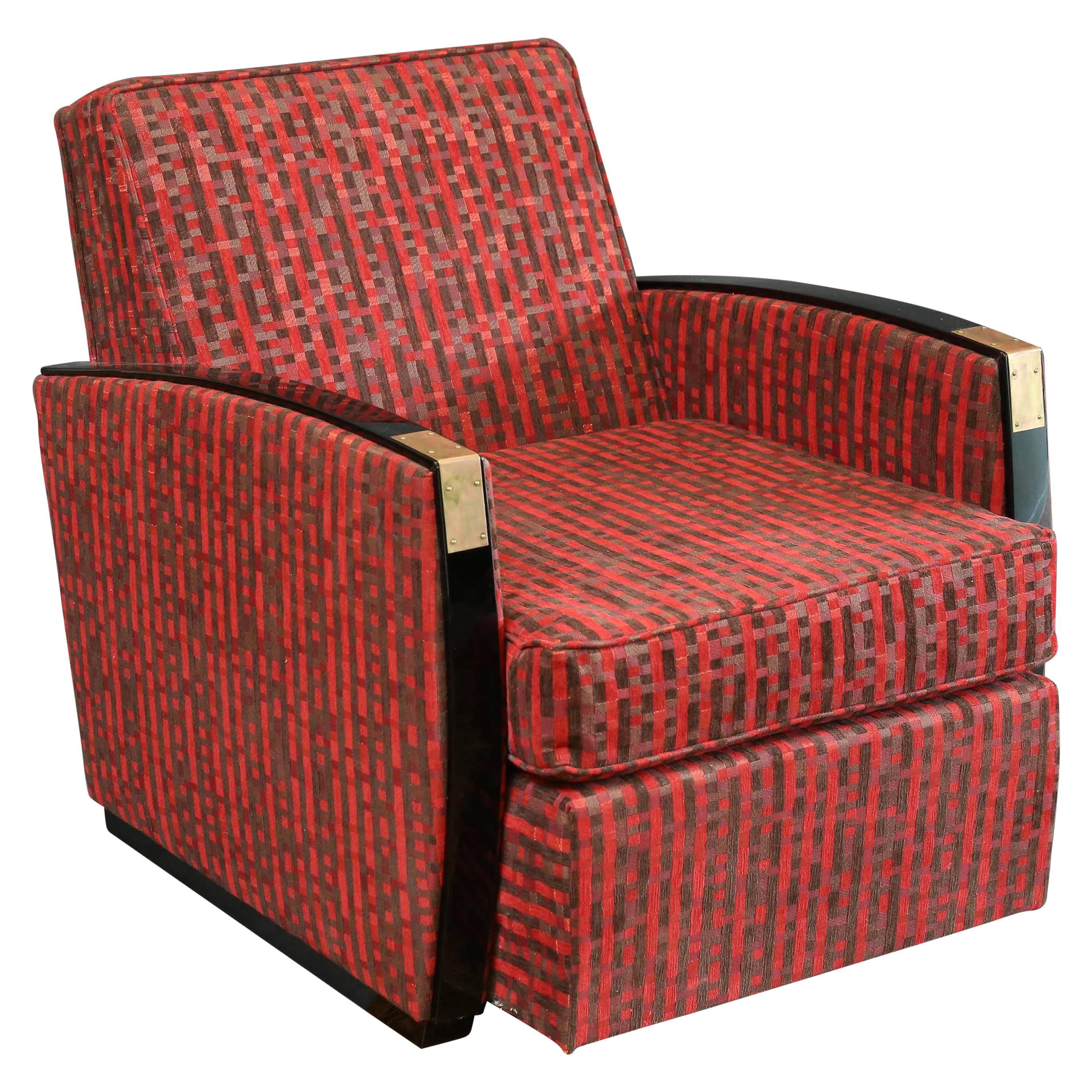 French Mid-Century Armchair in Walnut