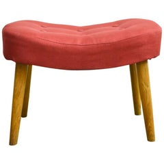 Danish Mid-Century Footstool or Ottoman Model Pragh by Madsen & Schubel
