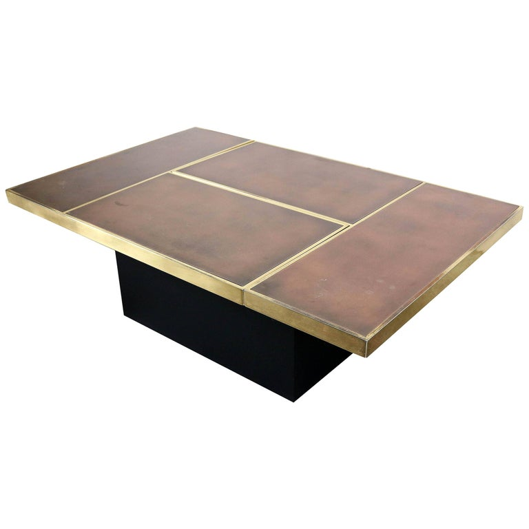 Willy Rizzo Coffee Table With Hidden Bar For Sale At 1stdibs