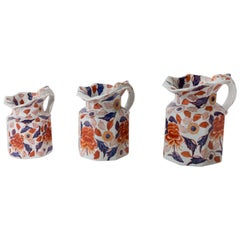 Blue, Purple and Orange Porcelain Pitchers from China