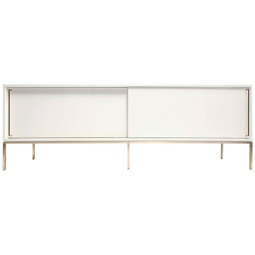 ReGeneration Furniture Inc. Credenza In Lacquer And Brass, Re: 379